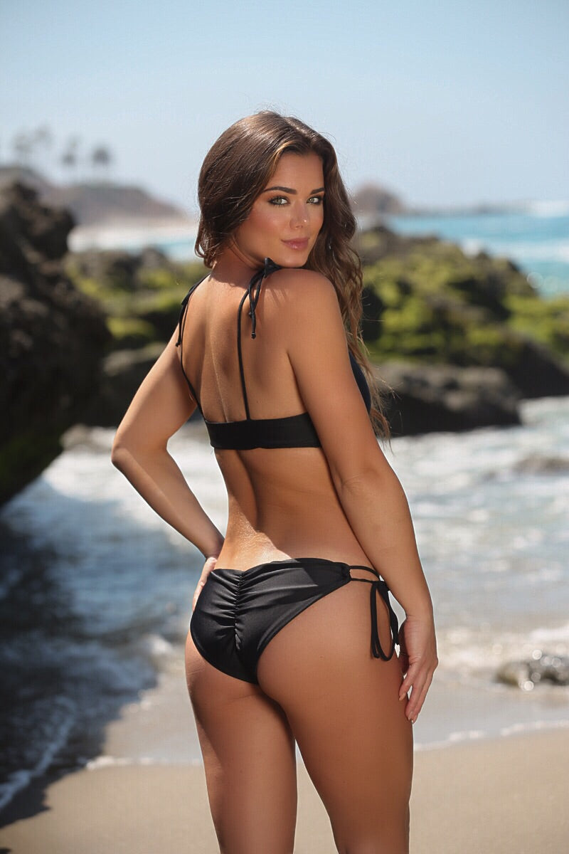 Harper Bottom (Full Coverage) in Black - Sweet Treat Bikinis