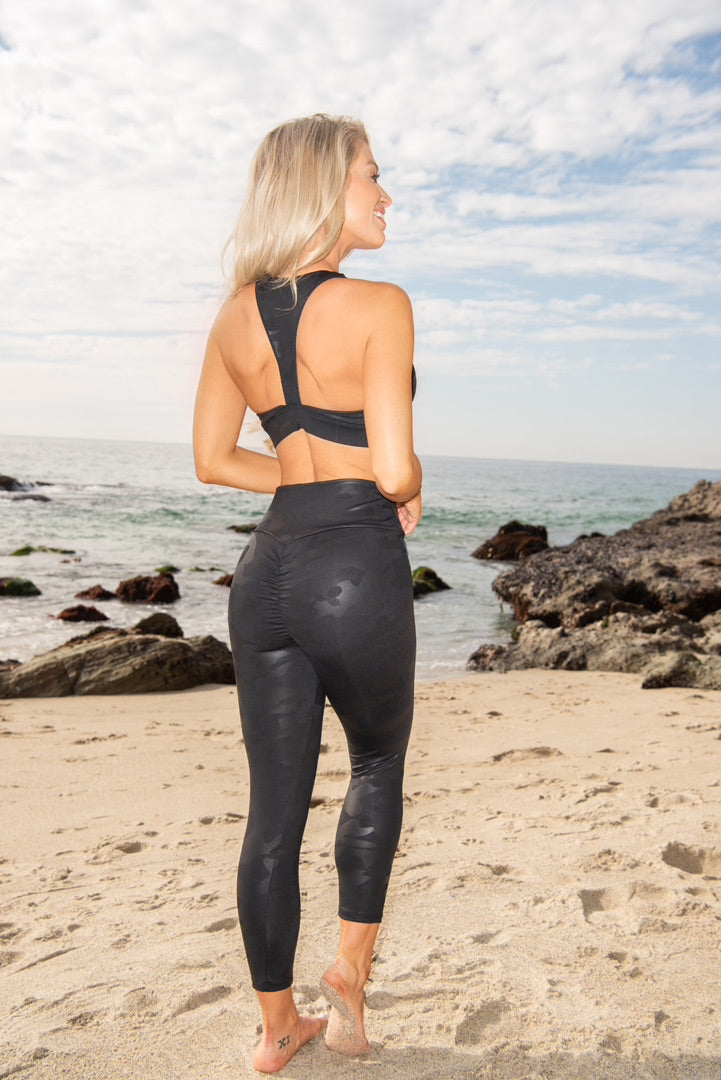 Dylan Sports Bra - Black Camo