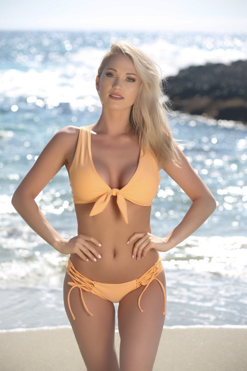 Avery Top in Peach - Sweet Treat Bikinis