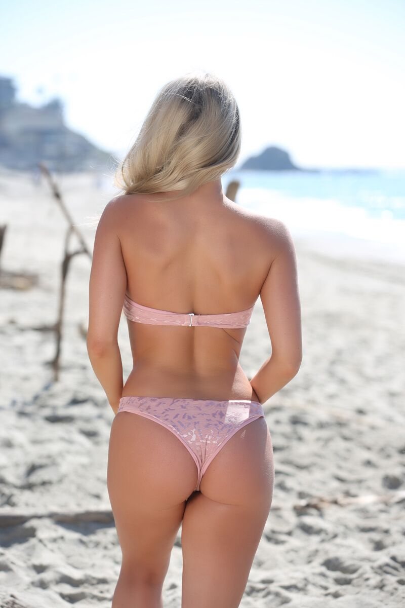 Avery Bottom in Blush Lace - Sweet Treat Bikinis