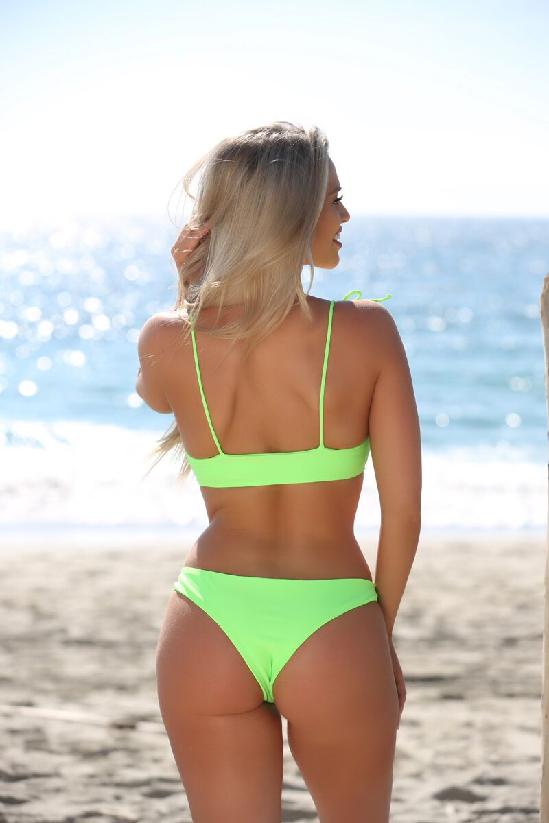 Riley Top in Neon Green - Sweet Treat Bikinis