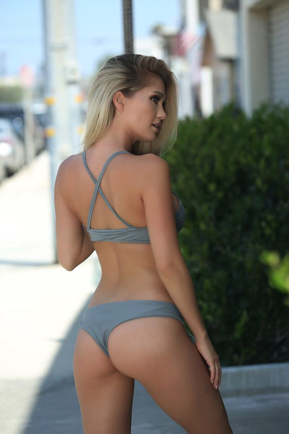 Avery Bottom in Stone - Sweet Treat Bikinis
