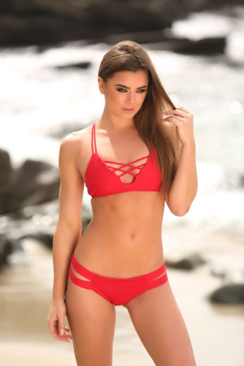 Stella Top in Red - Sweet Treat Bikinis