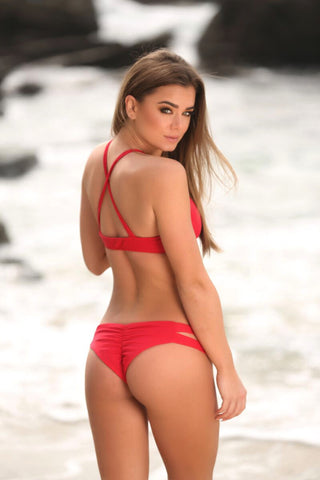 Layla Bottom in Red - Sweet Treat Bikinis