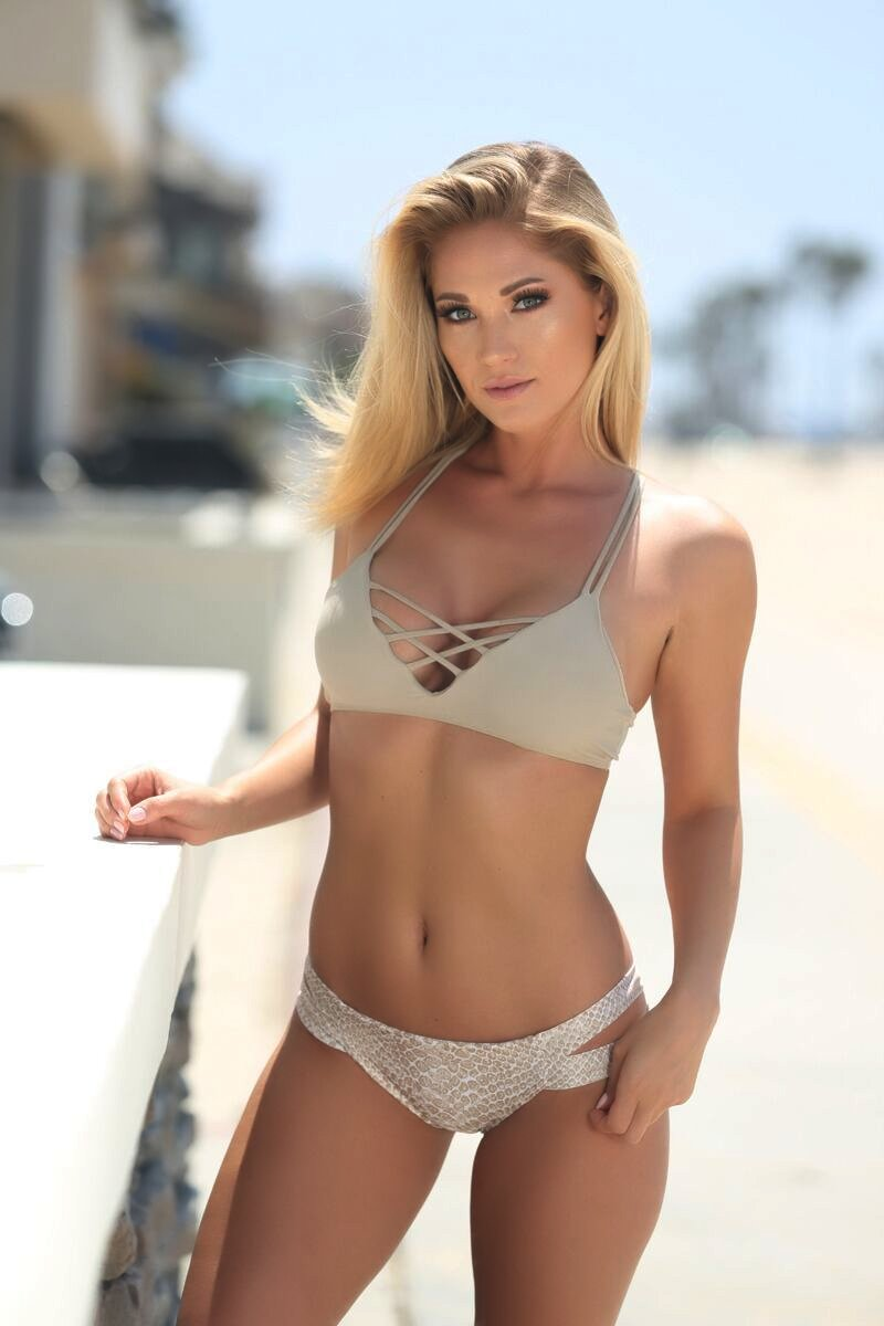 Stella Top in Taupe - Sweet Treat Bikinis