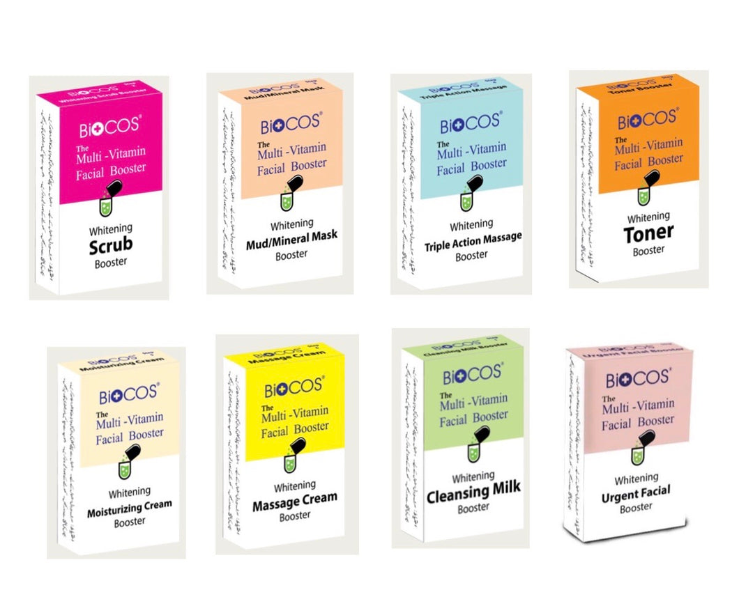 Biocos 8 Pack, Individual Multi Vitamin And Whitening Facial Boosters