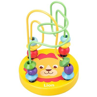 Animal Bead Maze Wooden Toy Learn From Home
