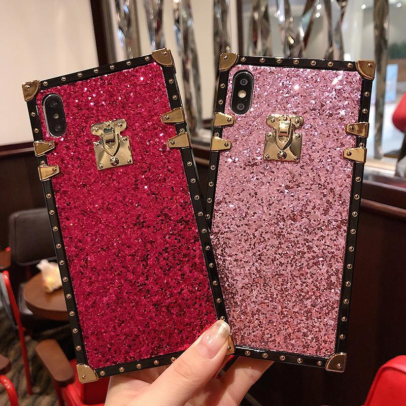 French Style Vintage Glitter Phone Case For Samsung Galaxy