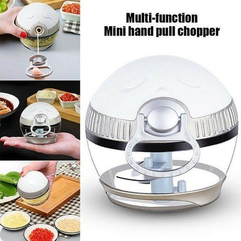 Cartoon Mini Manual Complementary Food Crusher, Hand-Drawn Multi-functional Garlic Food Chopper