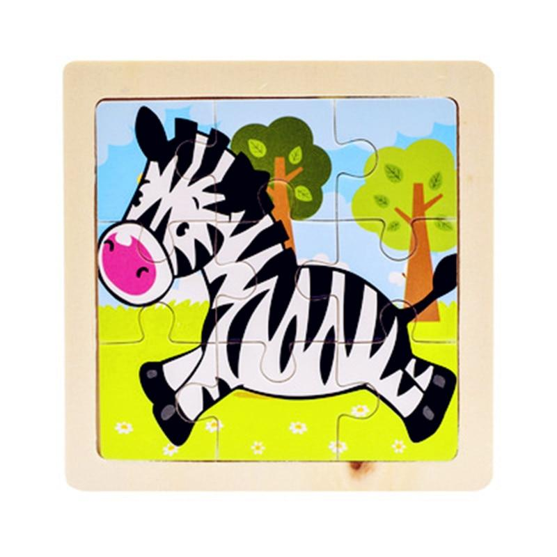 Kids Wooden Educational Toy Puzzle Learn From Home