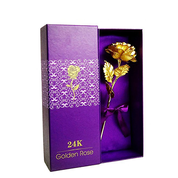 Gold Rose Gift Box