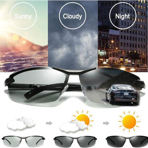 Men's Photochromic Sunglasses with Polarized Lens