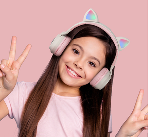 Wireless Cat Ear Headphones Bluetooth Headset