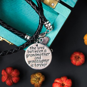 The Love Between A Grandmother and Granddaughter is Forever Hand Stamped Bracelet