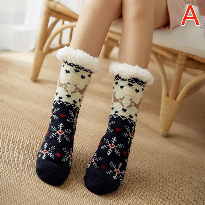 Women Warm Fleece Indoor Socks