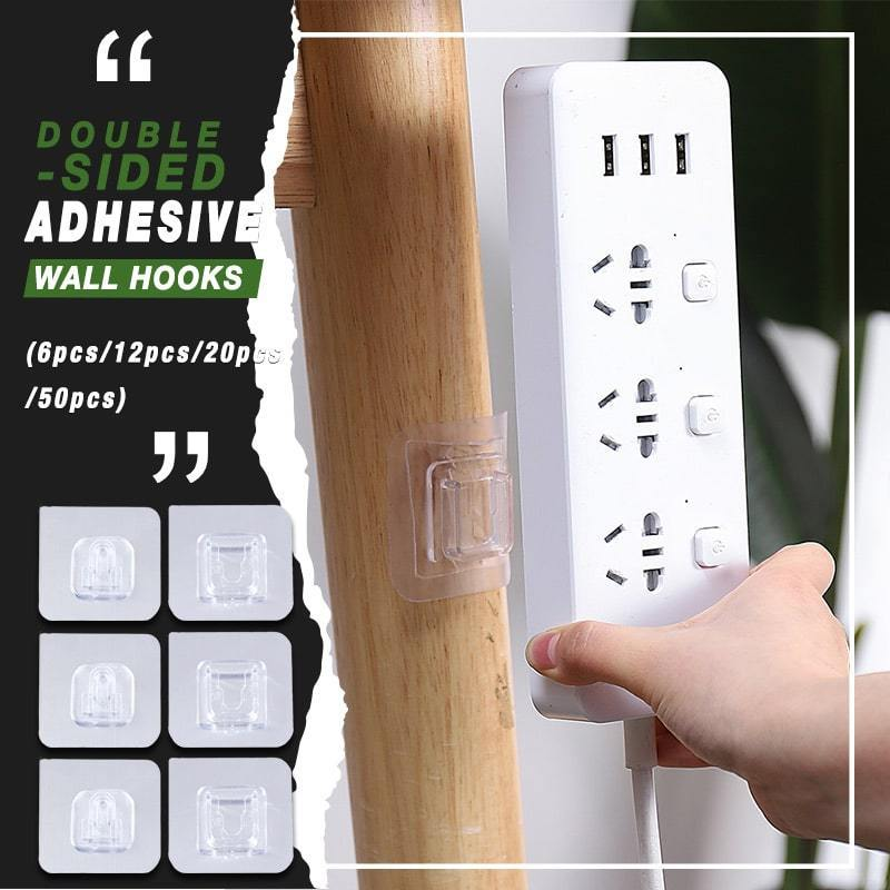 Reusable Double Sided Self-Adhesive Wall Hooks