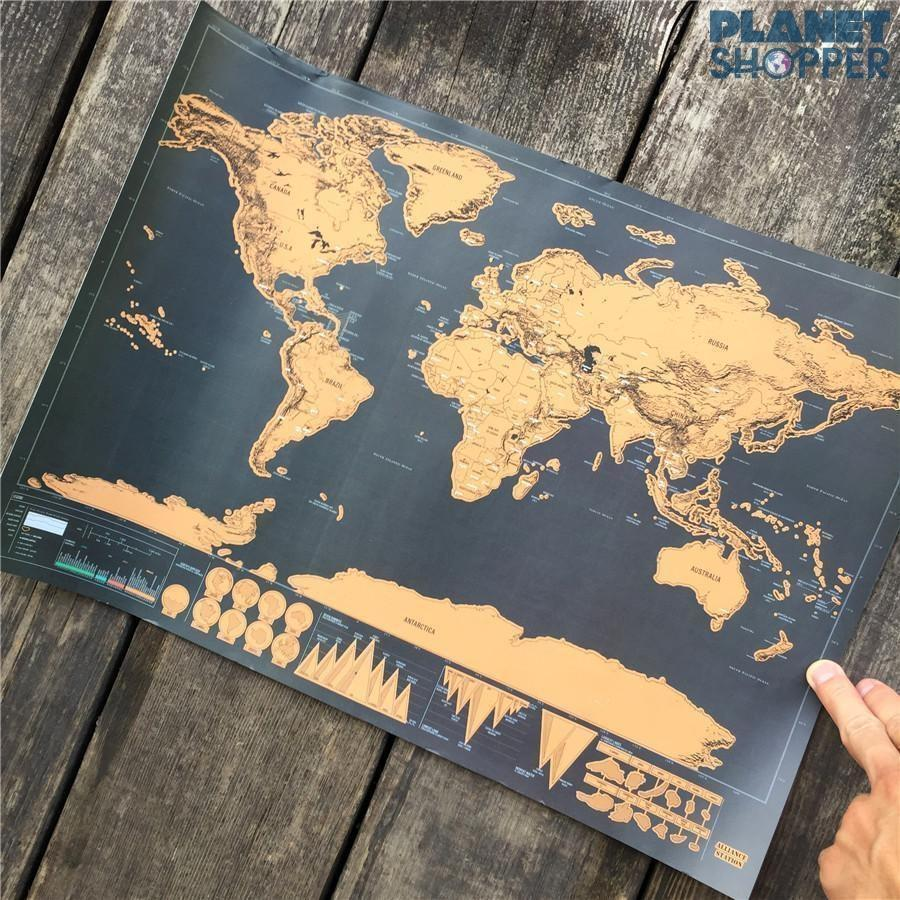 Wanderlust Scratch Off Map