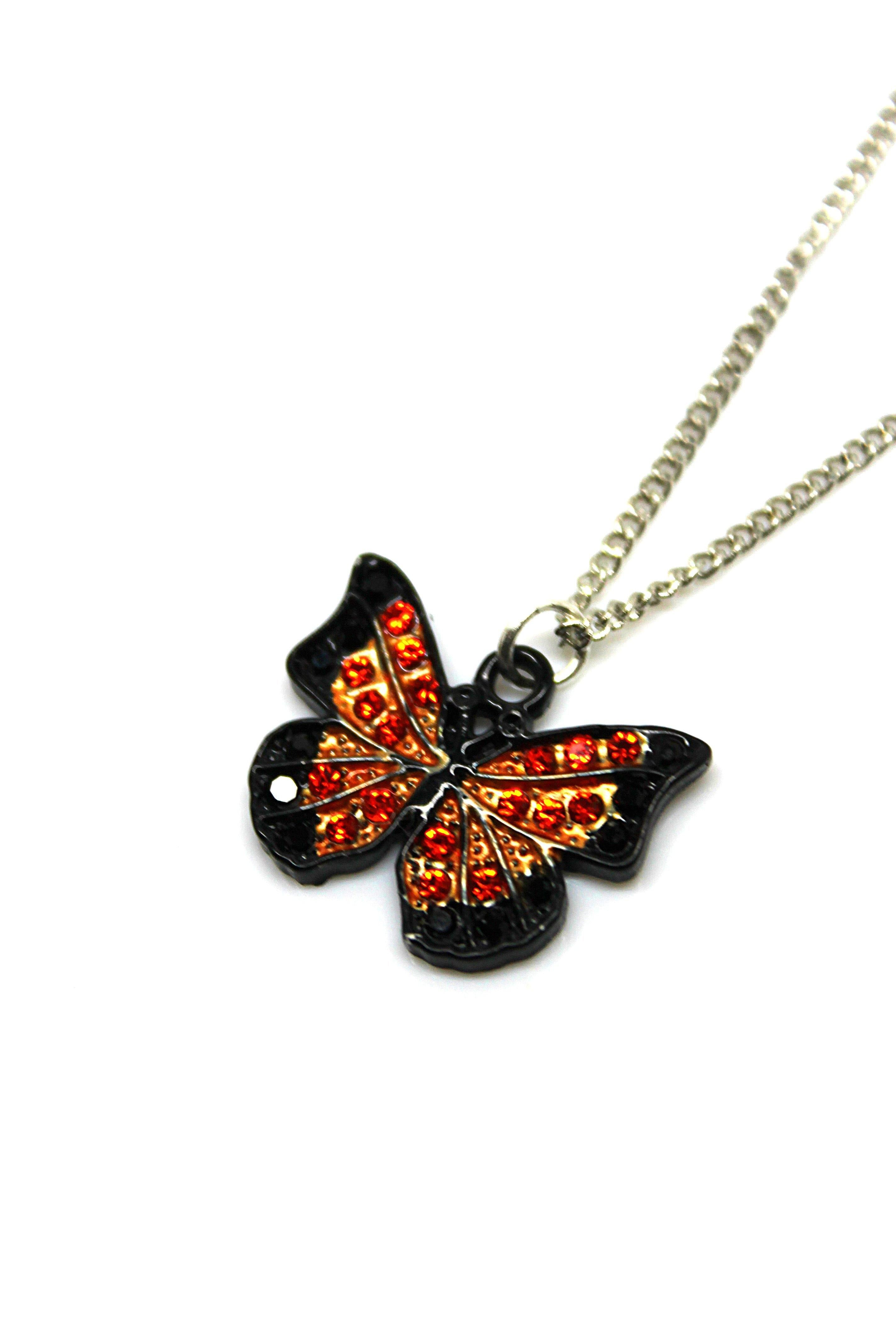 Butterfly Orange Necklace - Wildtouch - Wildtouch