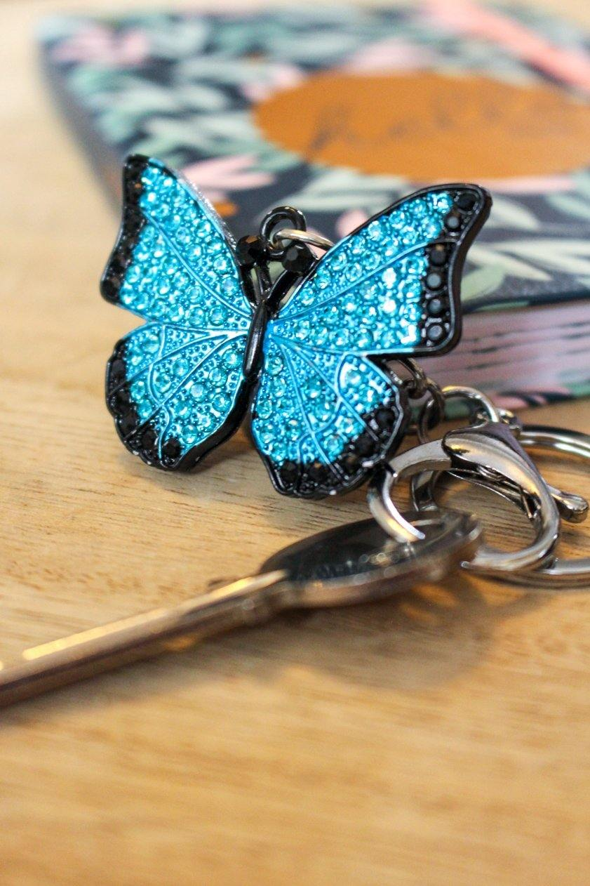 Butterfly Keyring Blue - Wildtouch - Wildtouch