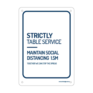 Strictly Table Service Flex Sign