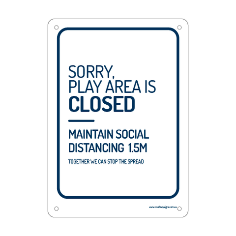 Play Area Closed Flex Sign