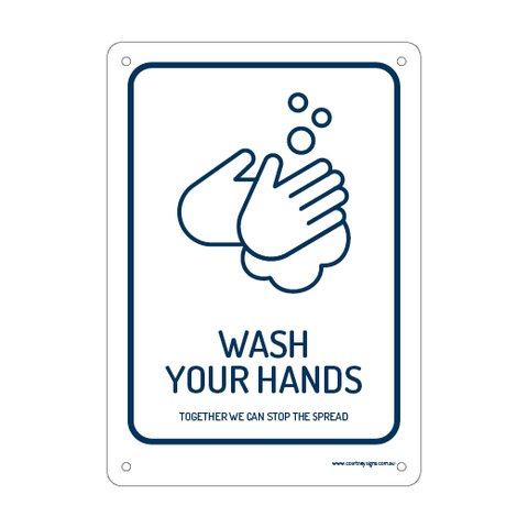 Wash Your Hands Flex Sign