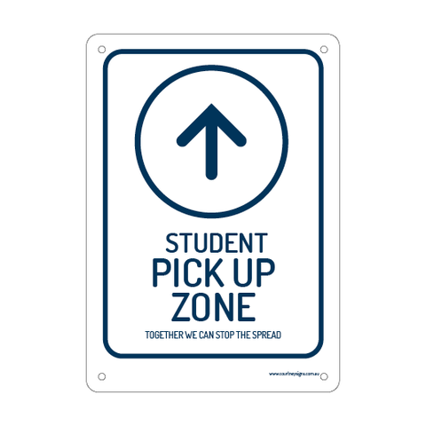 Student Pick Up Zone Flex Sign