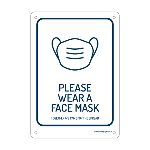 Please Wear A Mask Flex Sign