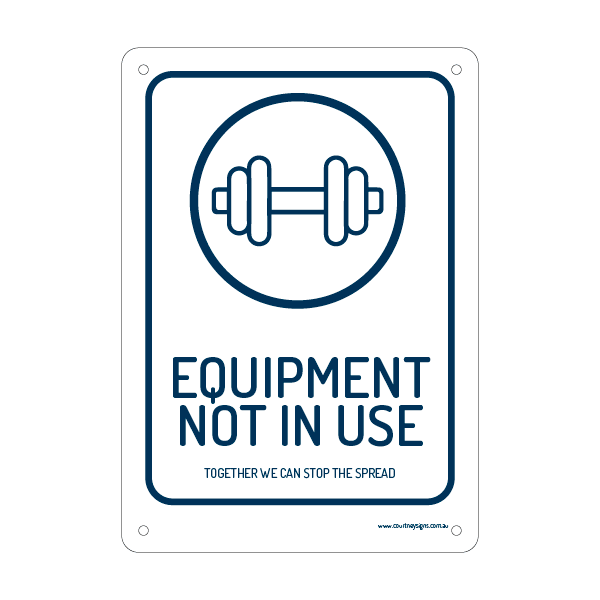 Equipment Not In Use Flex Sign