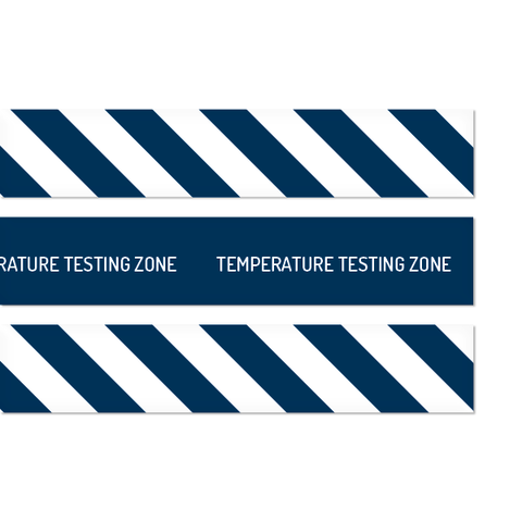 Temperature Testing Zone Floor Strips