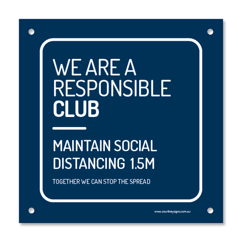 Responsible Club Corflute