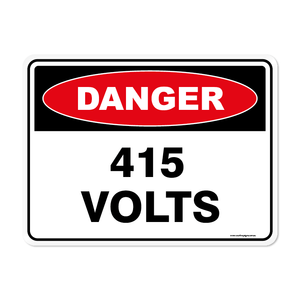 Danger - 415 VOLTS