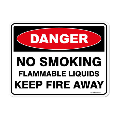 Danger - NO SMOKING FLAMMABLE LIQUID