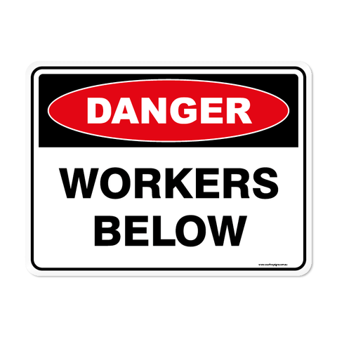 Danger - WORKERS-BELOW