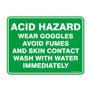 Emergency - ACID HAZARD