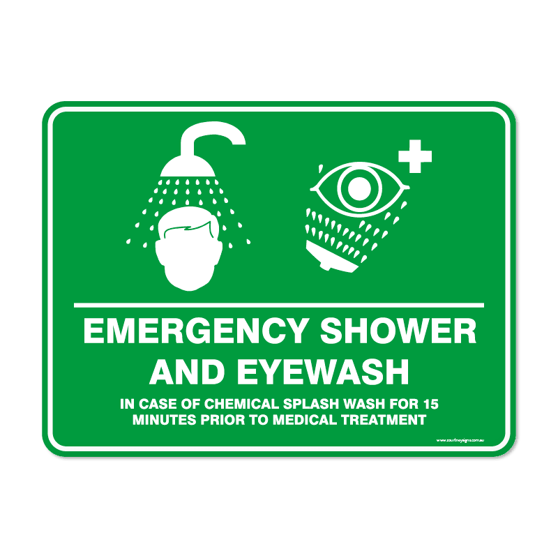 Emergency - EMERGENCY SHOWER EYEWASH