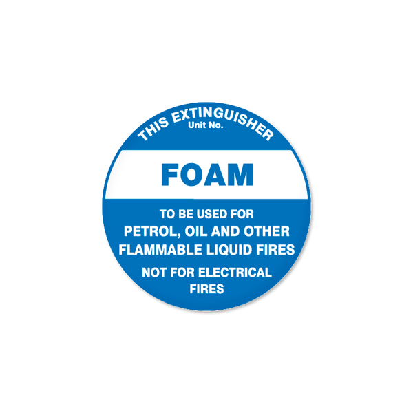 Fire - THIS EXTINGUISHER - FOAM