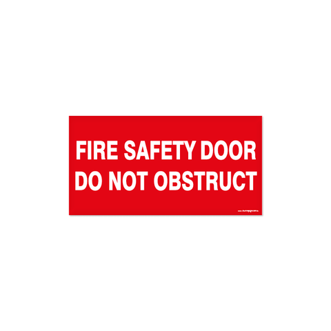 Fire - FIRE SAFETY DOOR OBSTRUCT