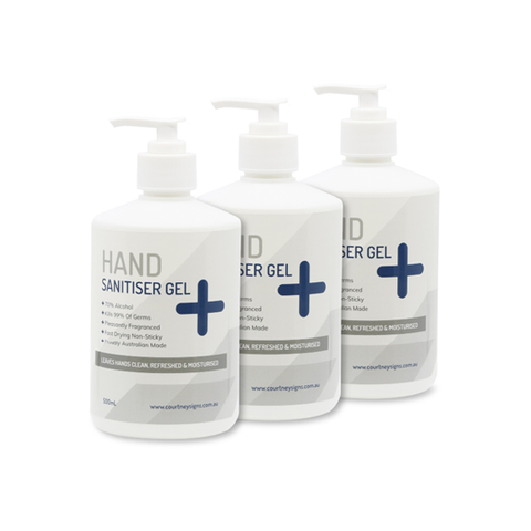 Hand Sanitiser Gel 500mL (3 Pack)