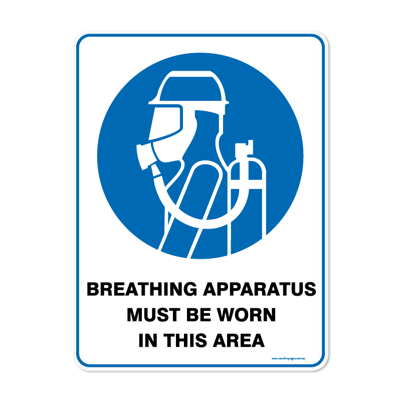 Mandatory - BREATHING APPARATUS MUST BE WORN IN THIS AREA