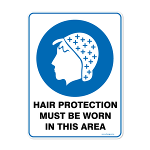 Mandatory - HAIR PROTECTION WORN