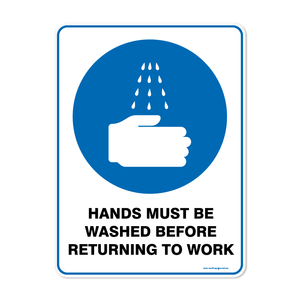 Mandatory - HANDS MUST BE WASHED