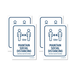 Maintain Social Distancing A5 Sticker (4 Pack)