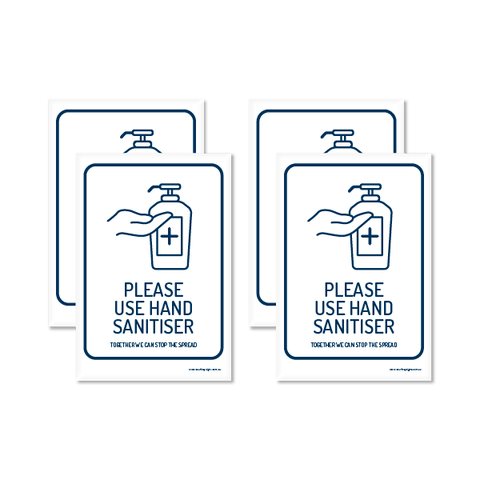 Please Use Hand Sanitiser A5 Sticker (4 Pack)