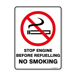 Prohibition - STOP ENGINE NO SMOKING
