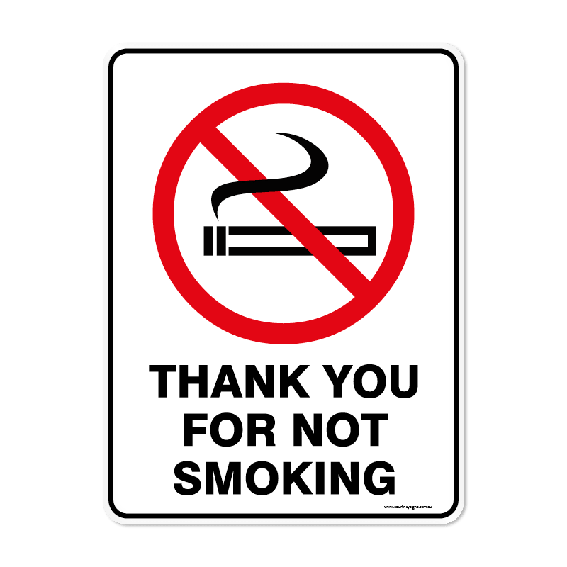 Prohibition - THANKYOU FOR NOT SMOKING