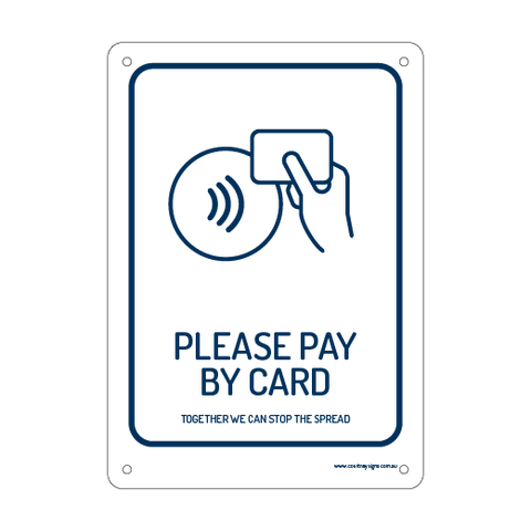Please Pay by Card Flex Sign