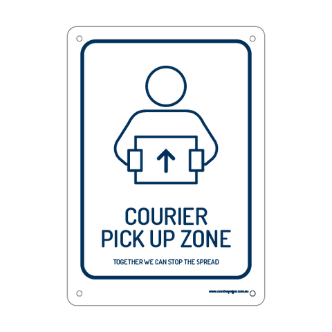 Courier Pick Up Zone Flex Sign