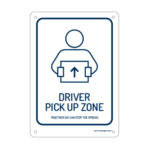Driver Pick Up Zone Flex Sign