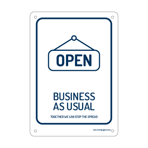 Open Business as Usual Flex Sign